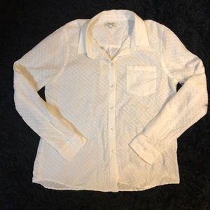 Madewell Large white button down top